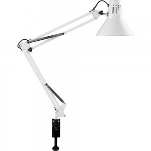 Светильник под лампу Feron DE1430 60W, 230V, патрон E27 на струбцине, белый