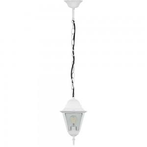 Светильник садово-парковый Feron 4105 четырехгранный на цепочке 60W E27 230V, белый