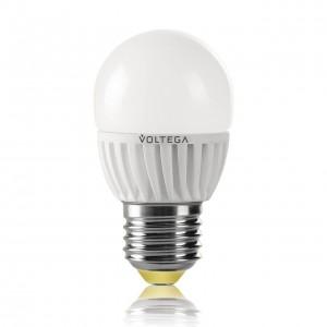 Лампа светодиодная Voltega E27 6.5W 2800К шар матовый VG1-G2E27warm6W 4695