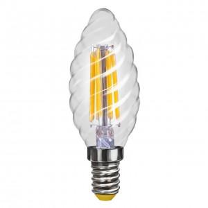 Лампа светодиодная филаментная Voltega E14 4W 2800К свеча витая прозрачная VG10-CC1E14warm4W-F 7002