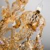 Классическая хрустальная люстра 10097/6 золото/тонированный хрусталь Strotskis