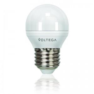 Лампа светодиодная Voltega E27 5.7W 4000К шар матовый VG3-G2E27cold6W 4703