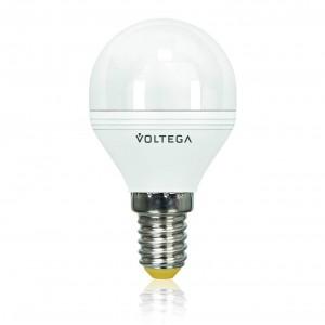 Лампа светодиодная Voltega E14 5.7W 4000К шар матовый VG2-G2E14cold6W 4701