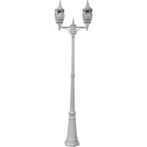Светильник садово-парковый Feron 8114 столб 2*100W E27 230V, белый