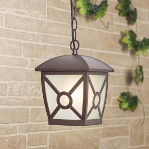 Уличный подвесной светильник Elektrostandard Columba H коричневый GL 1022H 4690389136825