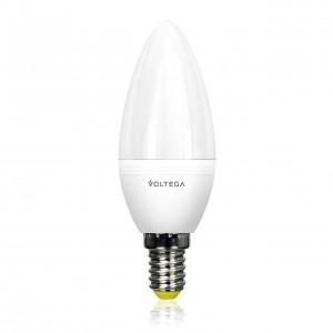 Лампа светодиодная Voltega E14 5.5W 2800К свеча матовая VG2-C2E14warm5W 8337