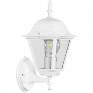 Светильник садово-парковый Feron 4101 четырехгранный на стену вверх 60W E27 230V, белый