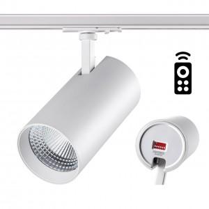 Однофазный трековый диммируемый светильник с пультом управления со сменой цветовой температуры NOVOTECH NAIL 358360
