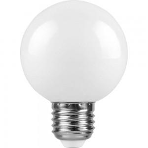 Лампа светодиодная Feron LB-371 Шар E27 3W 6400K