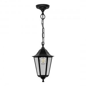 Светильник садово-парковый Feron НСУ 06-60-001 подвесной, 6-ти гранник 60W E27 230V, черный