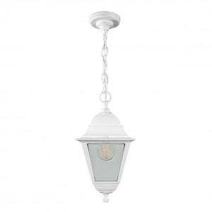 Светильник садово-парковый Feron НСУ 04-60-001 подвесной, 4-х гранник 60W E27 230V, белый